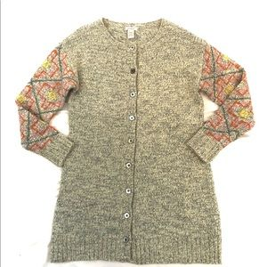 Sundance Long Button Cardigan Sweater